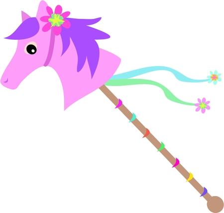Paardrijden Stick Stock Illustratie