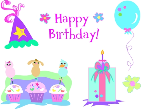 Happy Birthday Collection Vector