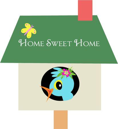 Home Sweet Home Bird Vector