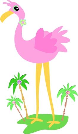 Flamingo Island Vector
