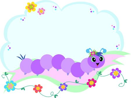 Message Bubble with Caterpillar
