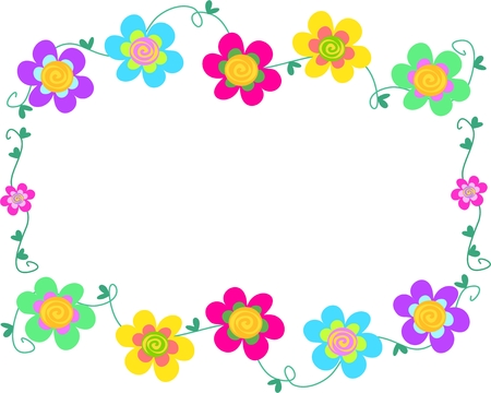 vine border: Frame of Spiral Flowers