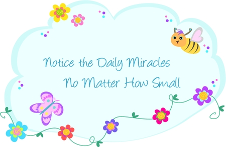 Bubble of Daily Miracles, Bee, Butterfly, and Flowers