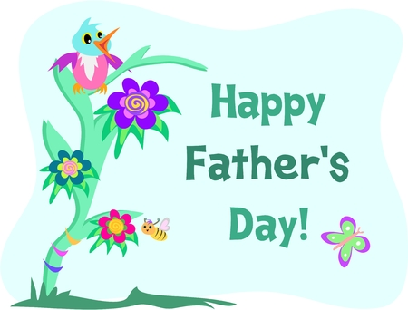 Happy Father�s Day Parrot Message