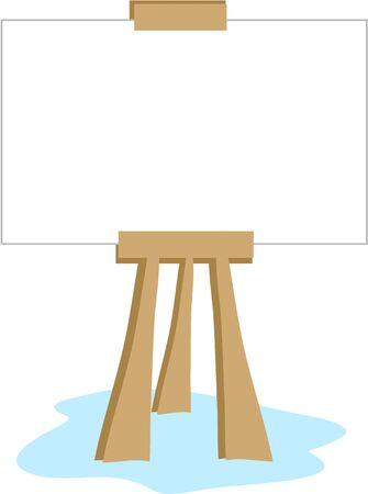 Art Easel for Messages Stock Illustratie