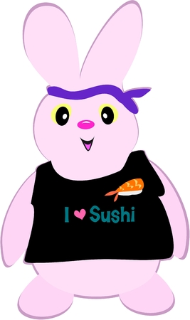 loves: Rabbit Loves Sushi Illustration