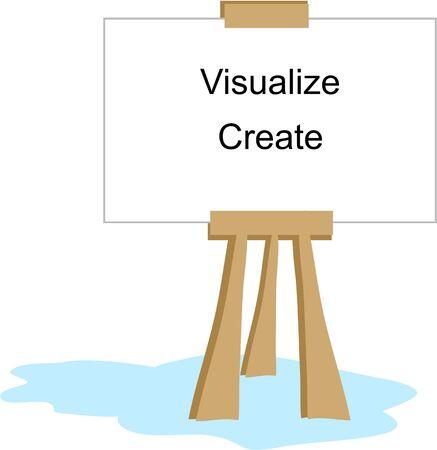 visualize: Arte cavalletto con parole Visualizza e Crea Vettoriali