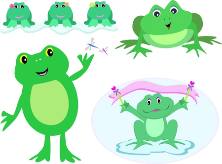 Mix Variety of Frogs Stock Vector - 5423417