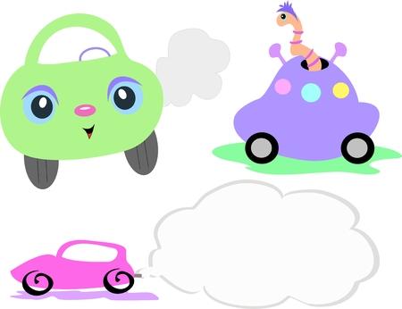 Mix of Vehicles Stock Illustratie