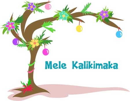 하와이 크리스마스 트리 일러스트