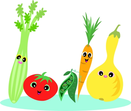 Healthy Foods of Vegetables Stock Vector - 5643250