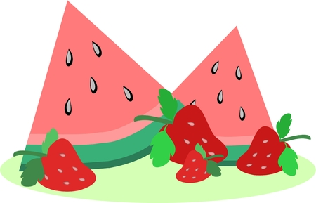 rinds: Watermelon and Strawberries