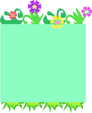 frame  box: Frame Box of Flowers Illustration