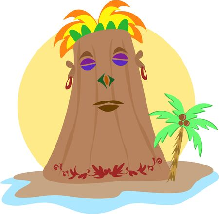 overseer: Powerful Kahuna Tiki Illustration