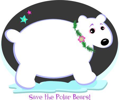 Save the Precious Polar Bears Reklamní fotografie - 6742064