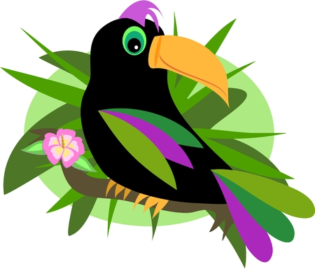 Toucan in the Jungle Stock Vector - 6742060