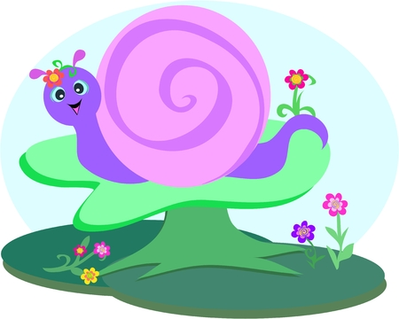 Sweet Snail in the Forest Stock Vector - 6819140