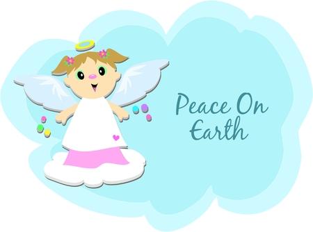 Peace on Earth Angel Vector