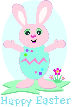 festive occasions: Easter Bunny with Egg Costume Illustration