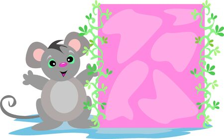 Mouse with Pink Box