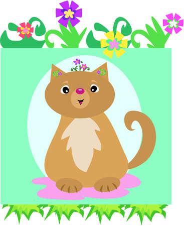 Cat Flower Head