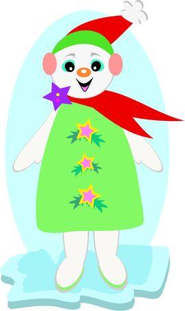 festive: Festive Snowman with Star Coat