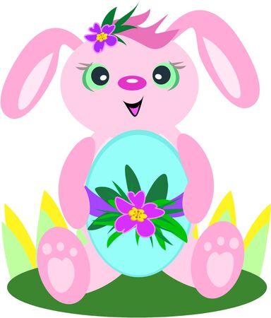 Easter Bunny Egg Stock Vector - 6910377