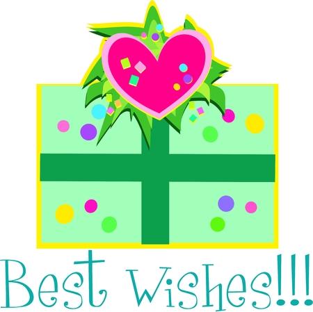 Best Wishes Gift Ilustração