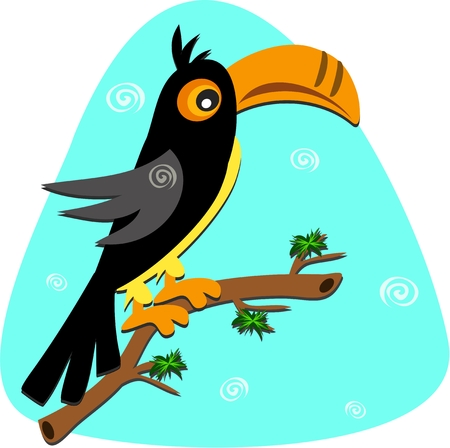 Toucan with Spirals Stock Vector - 7487274