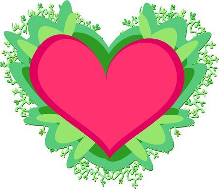 bordure vigne: Coeur � feuilles et les fronti�res de la vigne