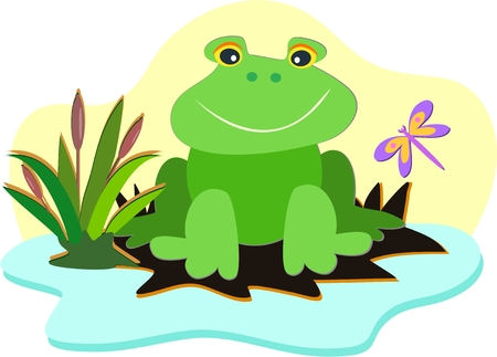 Smiling Frog Stock Vector - 8210016
