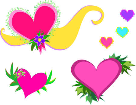 cor: Mix of Hearts and Décor Illustration