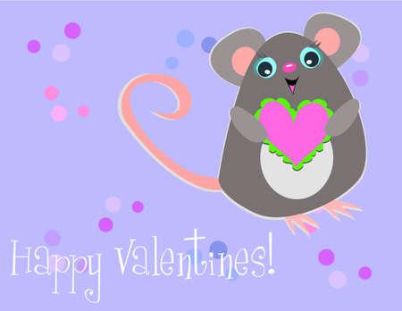 Happy Valentine Mouse