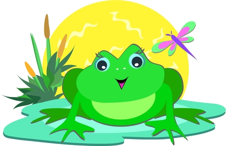 Frog in the Sun Vector