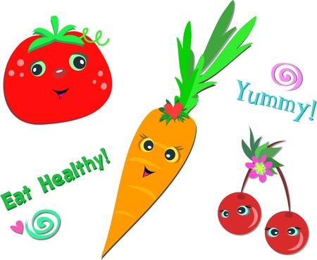 Mix of Healthy Foods Vettoriali