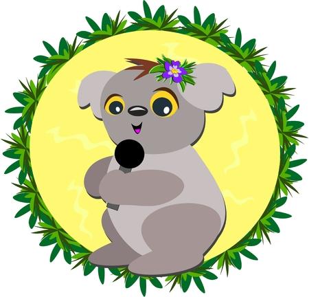 Karaoke Koala 向量圖像