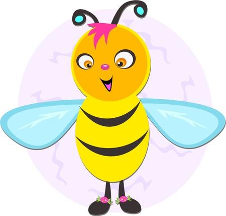 Eigenzinnige Bee Stock Illustratie