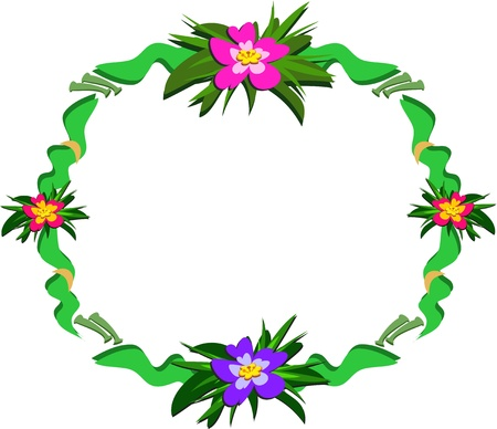 Circular Frame of Plants