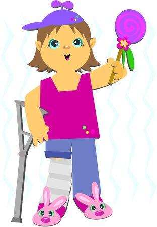 crutches: Girl in Crutches