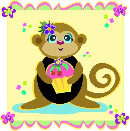 Party Monkey Vector