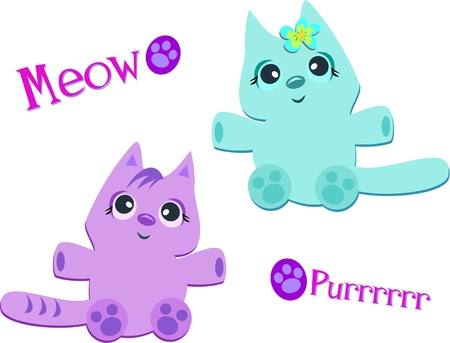 Two Cats Meow and Purrrr