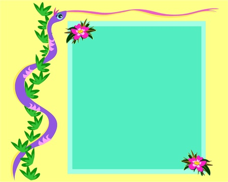 Snake and Message Board Vector