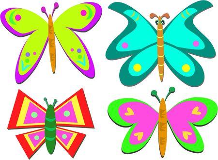 Mix of Shapely Butterflies