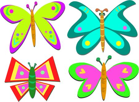 Mix of Shapely Butterflies