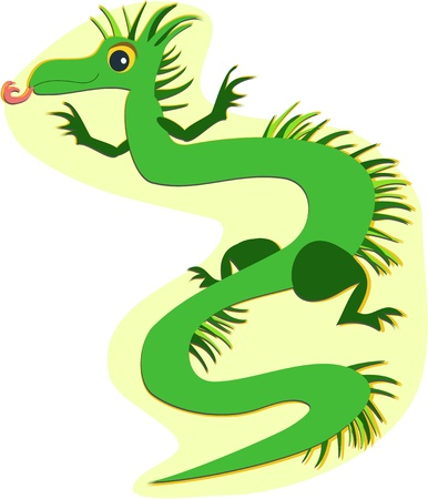 Fringed Green Dragon Vector