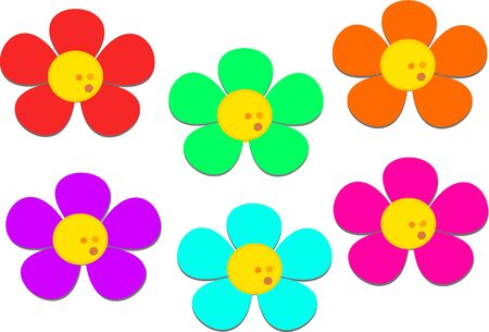 Mix of Flowers with Dots