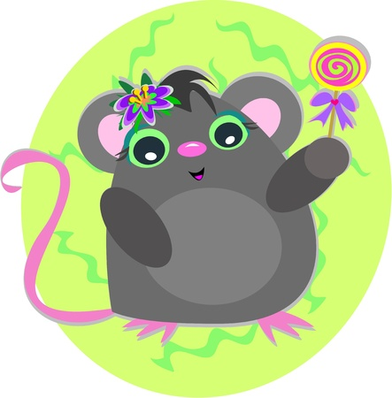 Mouse Candy Vector
