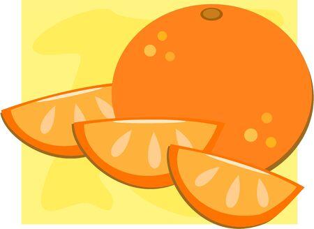 Orange with Slices