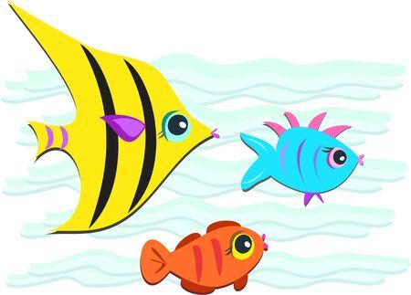 Fish Trio Friends Stock Vector - 9507056