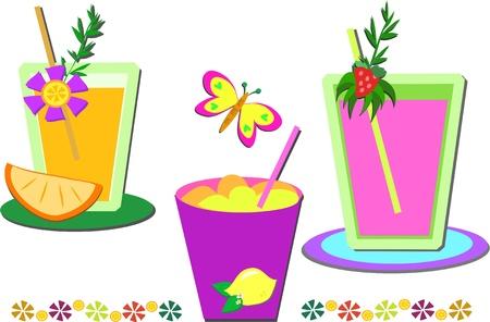 slush: Mix of Drinks and Decorations